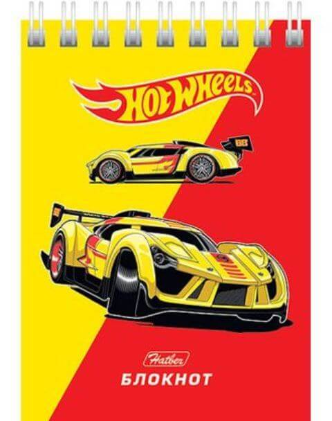 "Блокнот А7  40л  гребень ""Машинки (Hot wheels)"" клетка  40Б7B1гр   1/120"