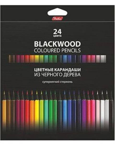 Карандаши 24 цв. BLACK DIAMOND супермягкий стержень  BKc_24830   1/6